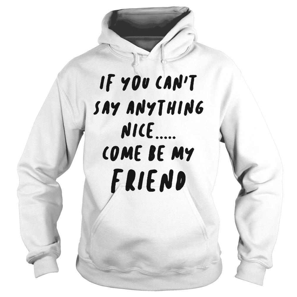 If You Can't Say Anything Nice Come Be My Friend Hoodie