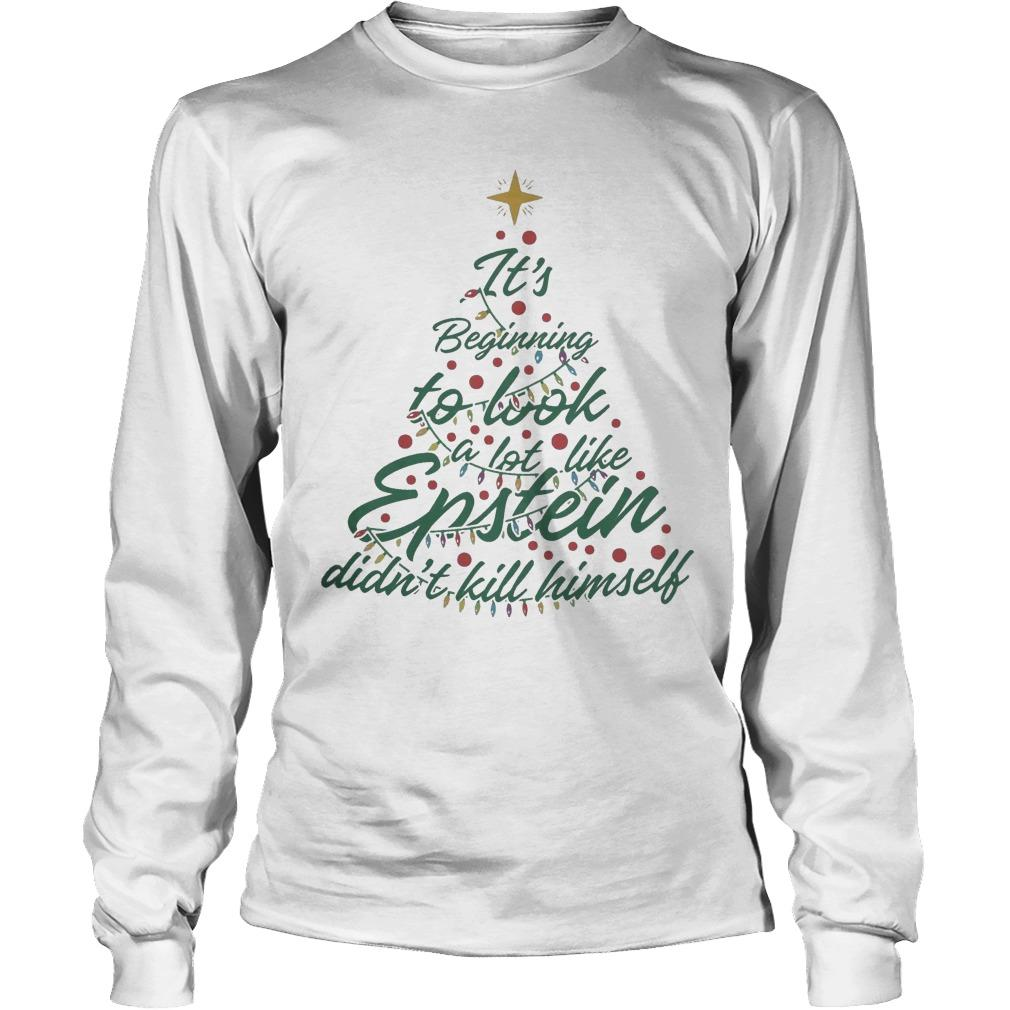 It's Beginning To Look A Lot Like Epstein Didn't Kill Himself Longsleeve