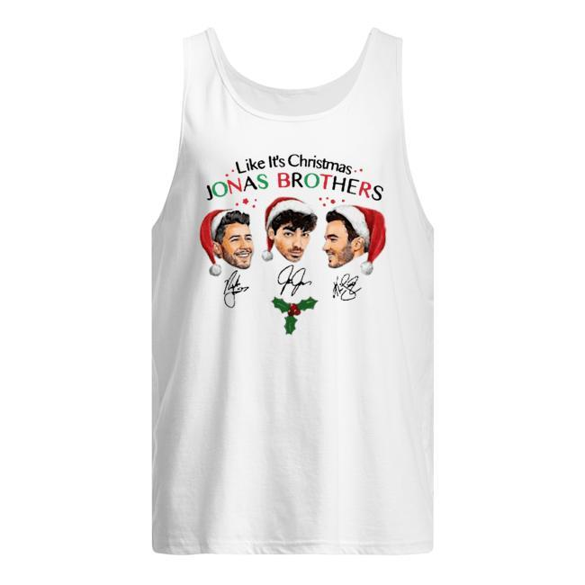 Like It's Christmas Signatures Jonas Brothers Tank Top