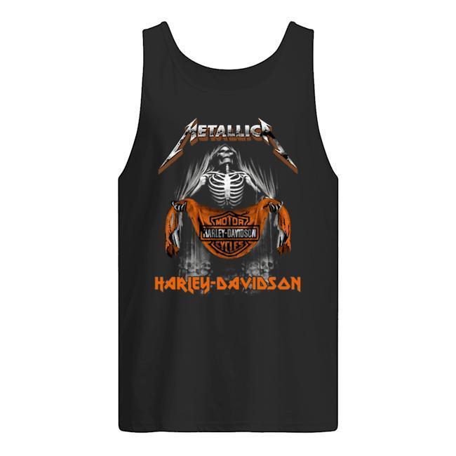 Metallica Skull Motor Cycles Harley Davidson T Tank Top