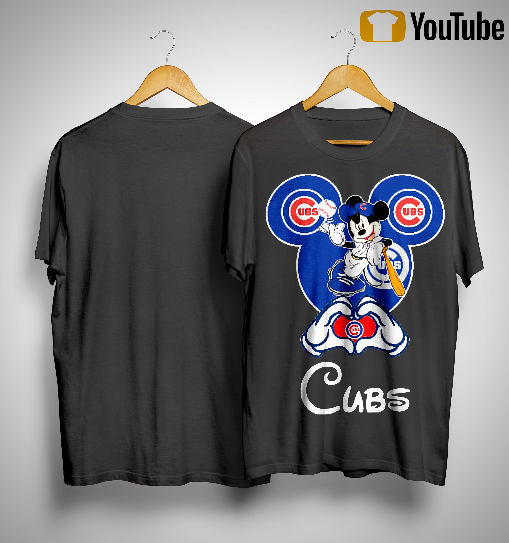 Mickey Mouse Baseball Chicago Cubs Shirt
