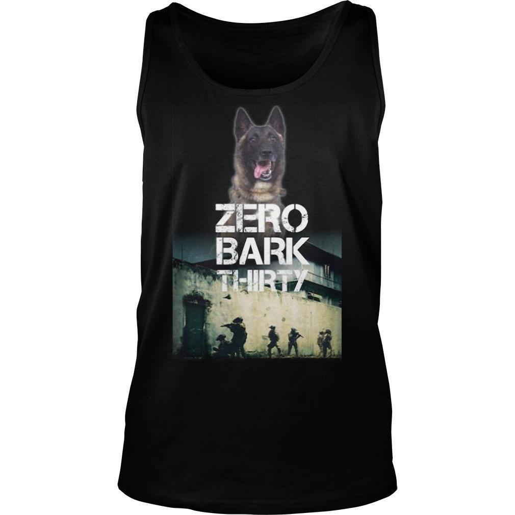 Military Dog Zero Bark Thirty T Tank Top