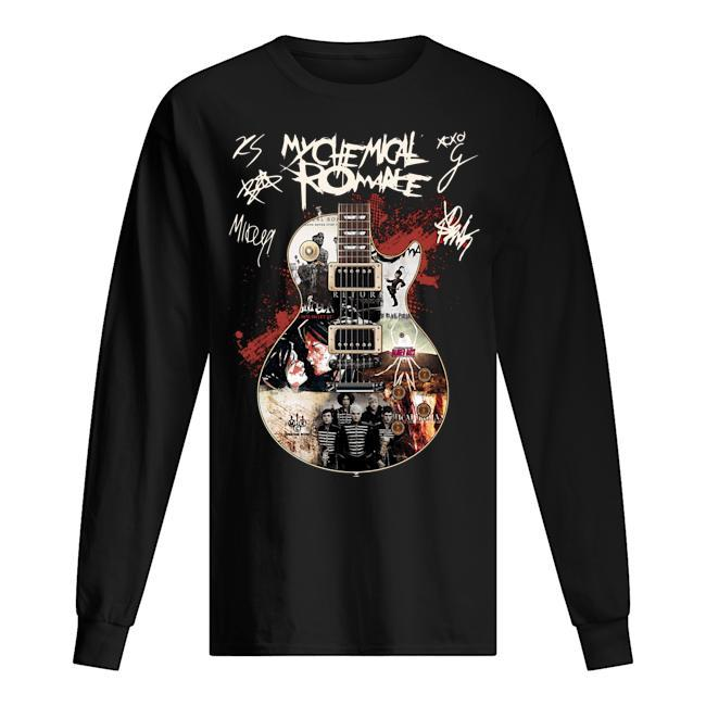 My Chemical Romance Guitar Signatures Longsleeve