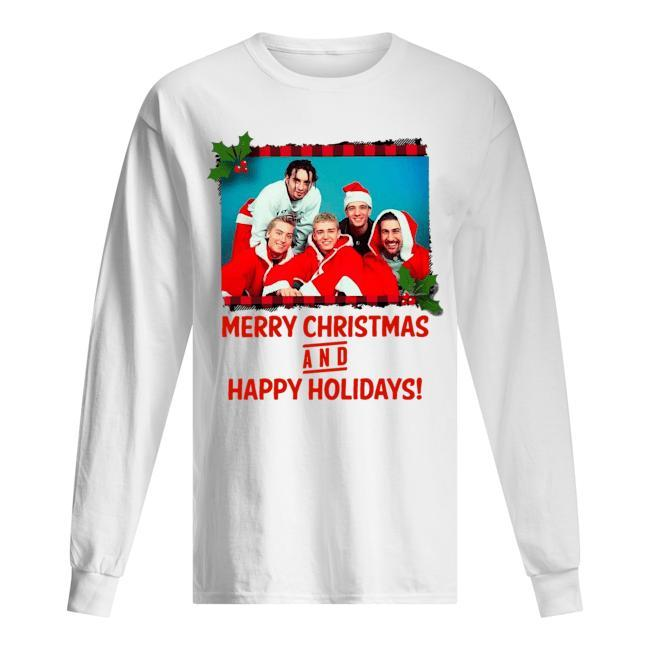 NSYNC Merry Christmas And Happy Holidays Longsleeve