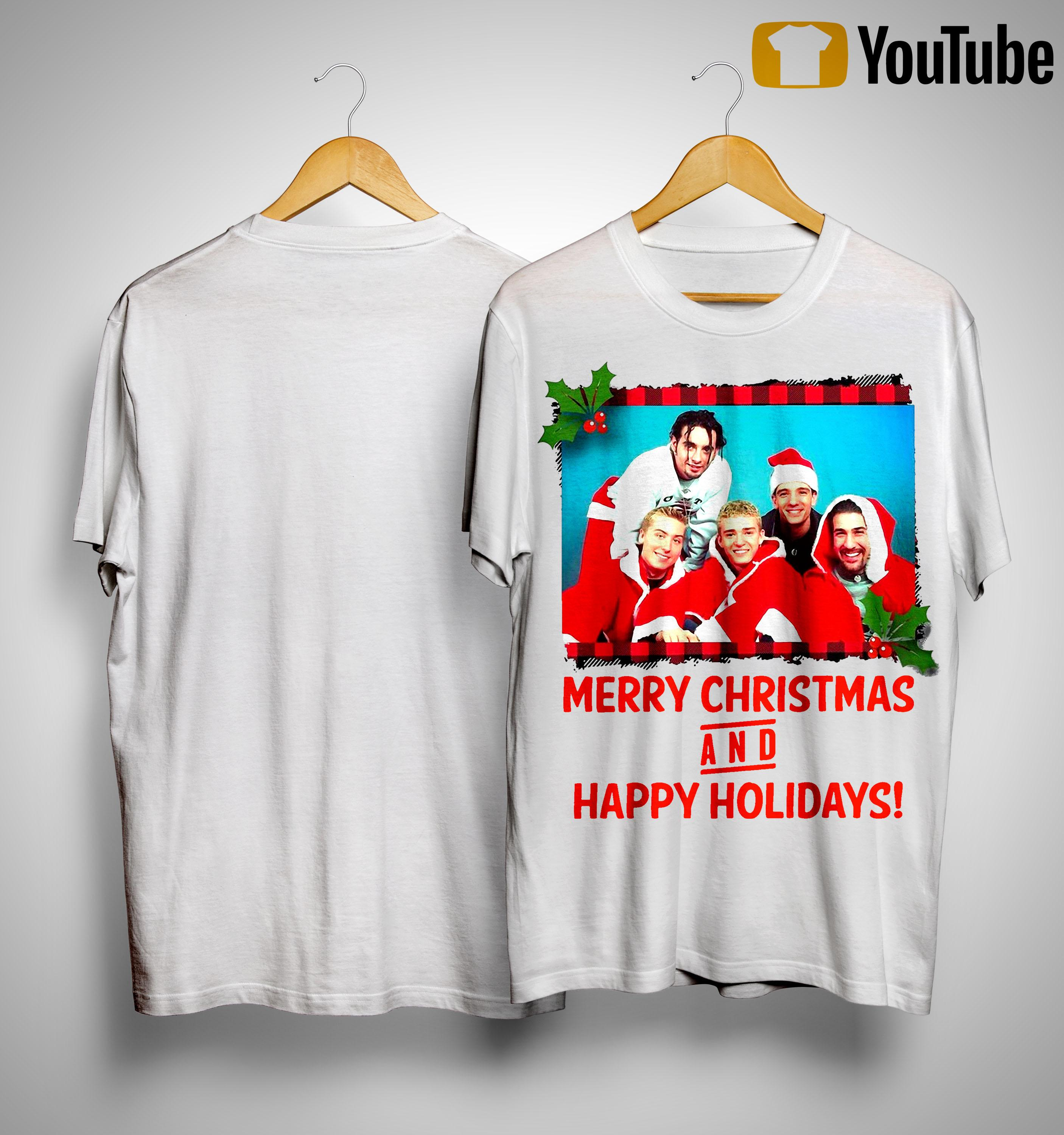 NSYNC Merry Christmas And Happy Holidays Shirt