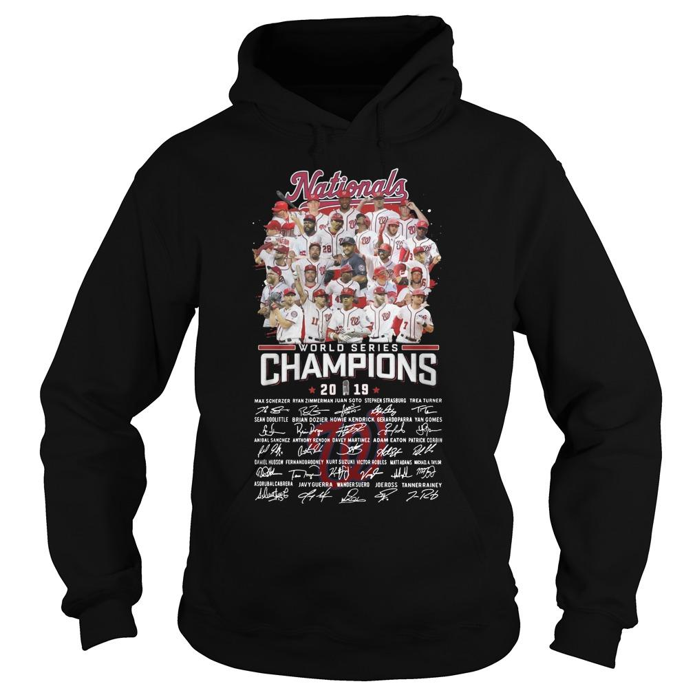 Nationals World Series Champions 2019 Signatures Hoodie