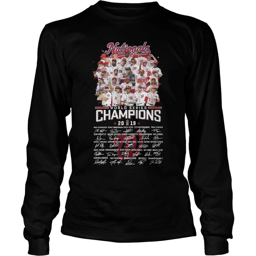 Nationals World Series Champions 2019 Signatures Longsleeve