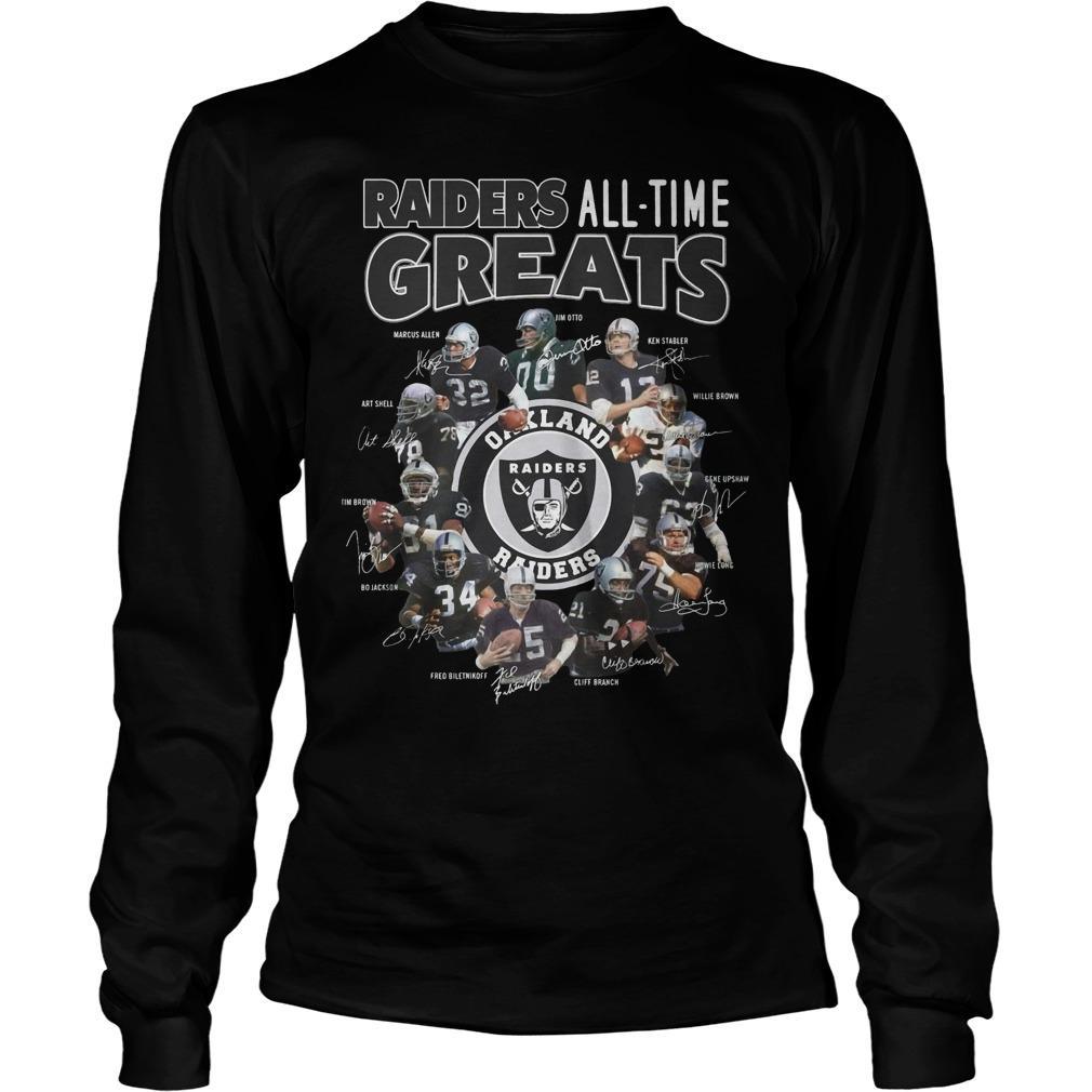 Oakland Raiders All Time Greats Longsleeve