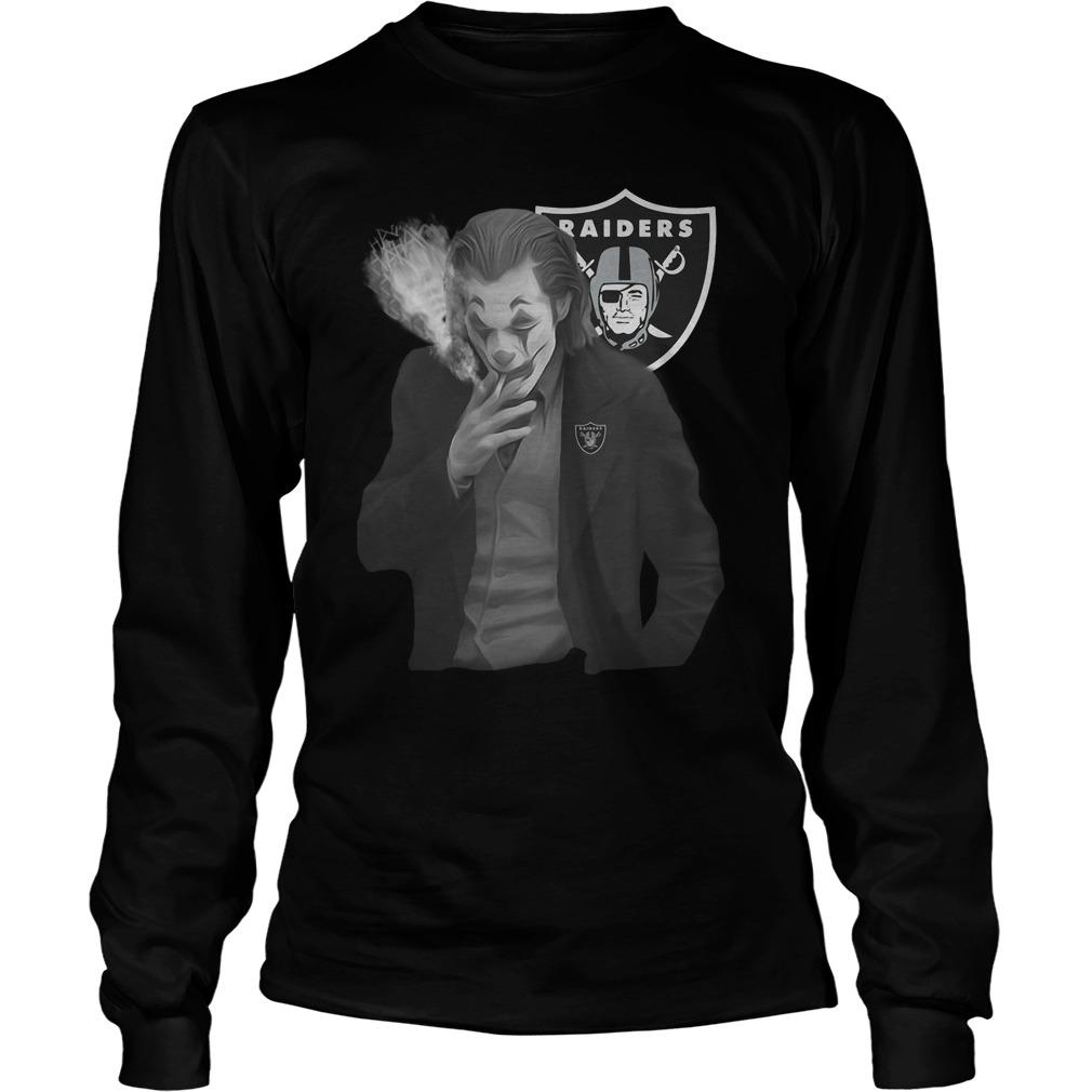 Raiders Oakland Joker Smoking Longsleeve