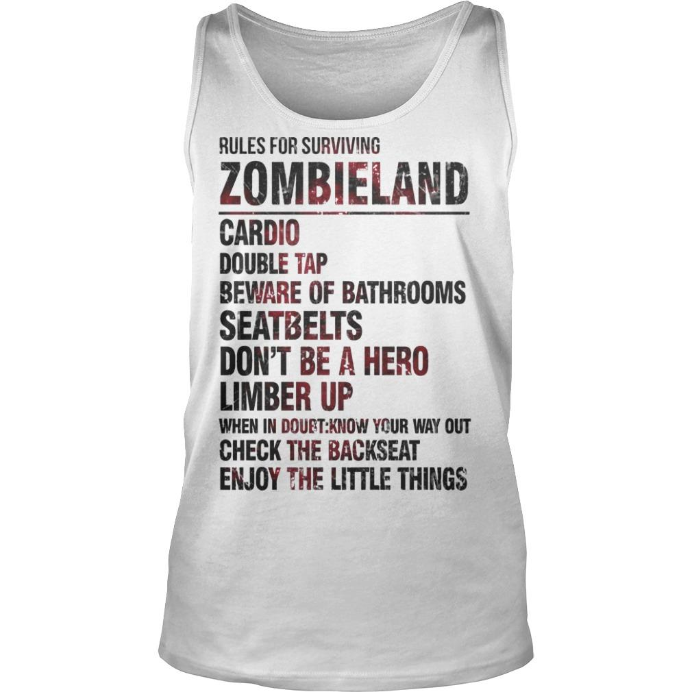 Rules For Surviving Zombie Land Cardio Double Tap Beware Of Bathrooms Tank Top