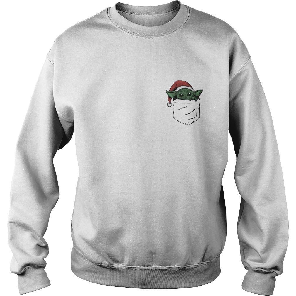 Santa Baby Yoda In Pocket Sweater