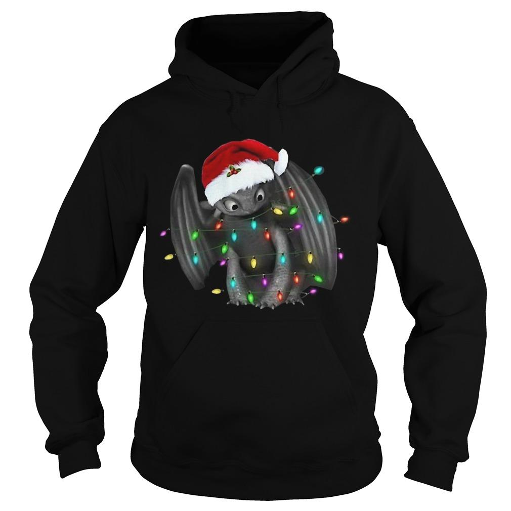 Santa Toothless Christmas Light Hoodie
