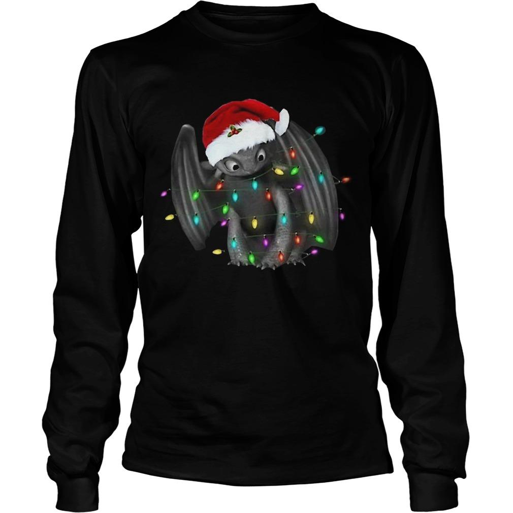Santa Toothless Christmas Light Longsleeve