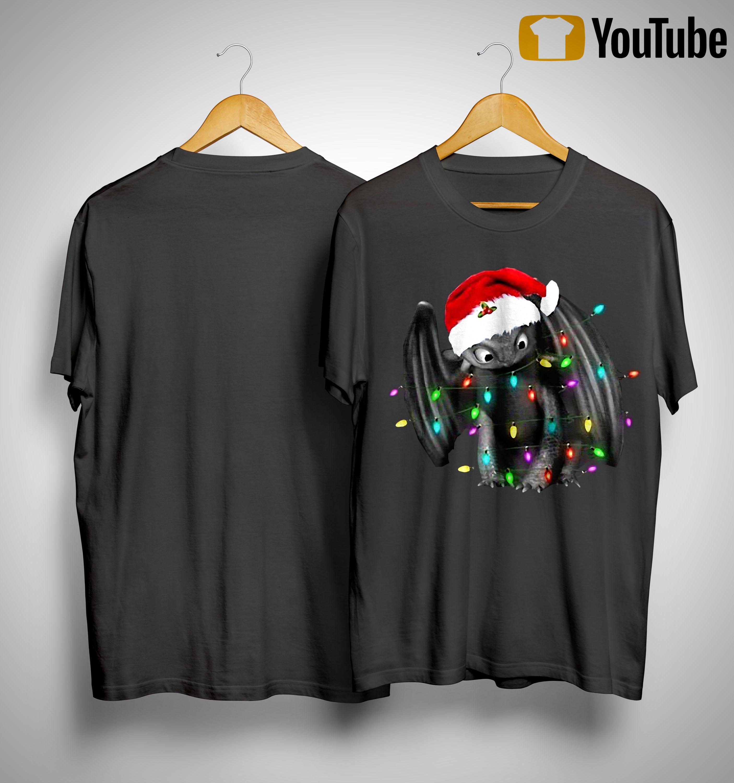 Santa Toothless Christmas Light Shirt