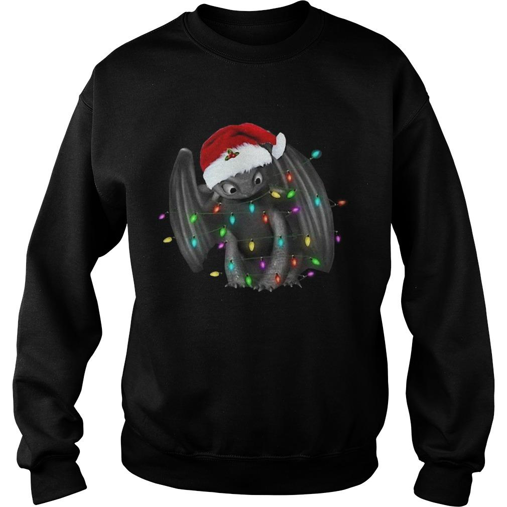 Santa Toothless Christmas Light Sweater