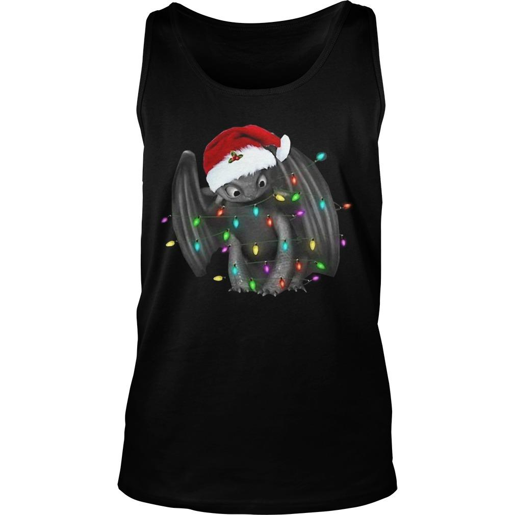 Santa Toothless Christmas Light Tank Top