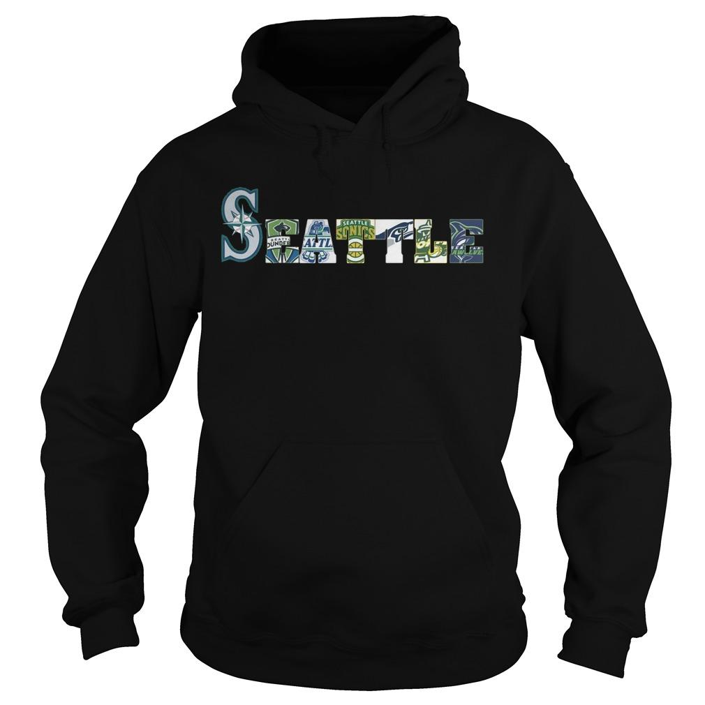 Seattle Mariners Thunderbirds Supersonics Seahawks Storm Seawolves Hoodie