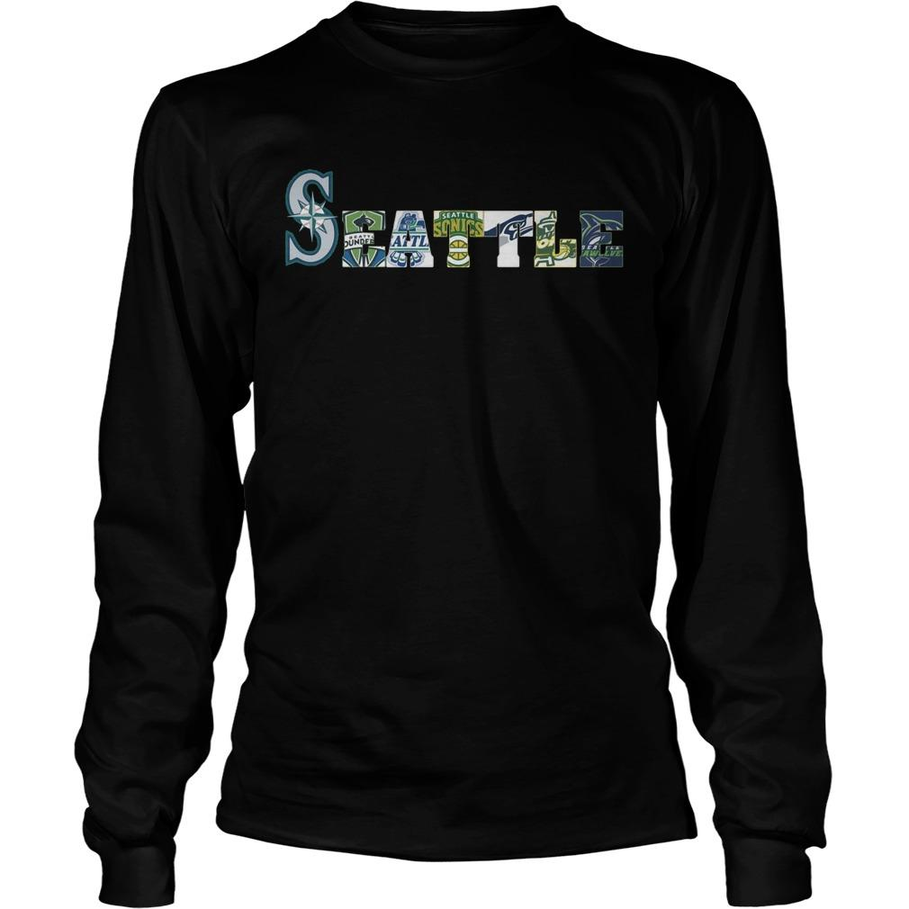 Seattle Mariners Thunderbirds Supersonics Seahawks Storm Seawolves Longsleeve