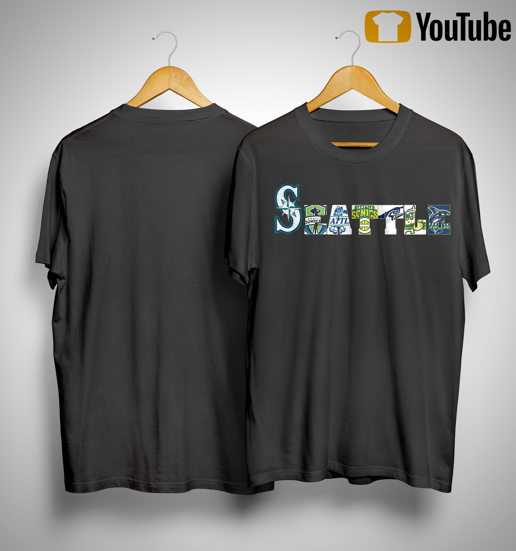 Seattle Mariners Thunderbirds Supersonics Seahawks Storm Seawolves Shirt