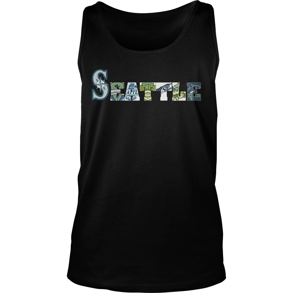 Seattle Mariners Thunderbirds Supersonics Seahawks Storm Seawolves Tank Top
