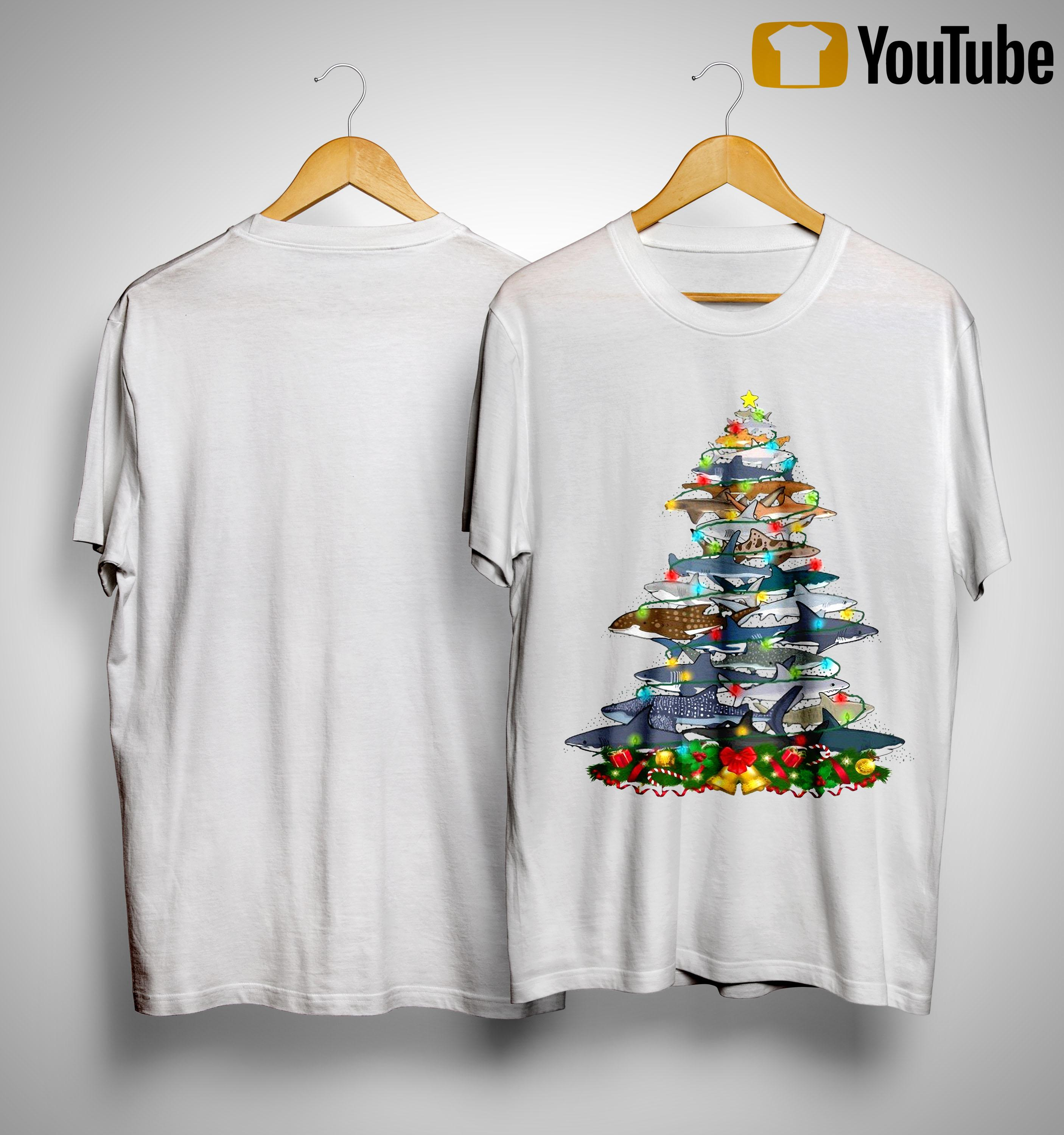 Shark Christmas Tree Shirt