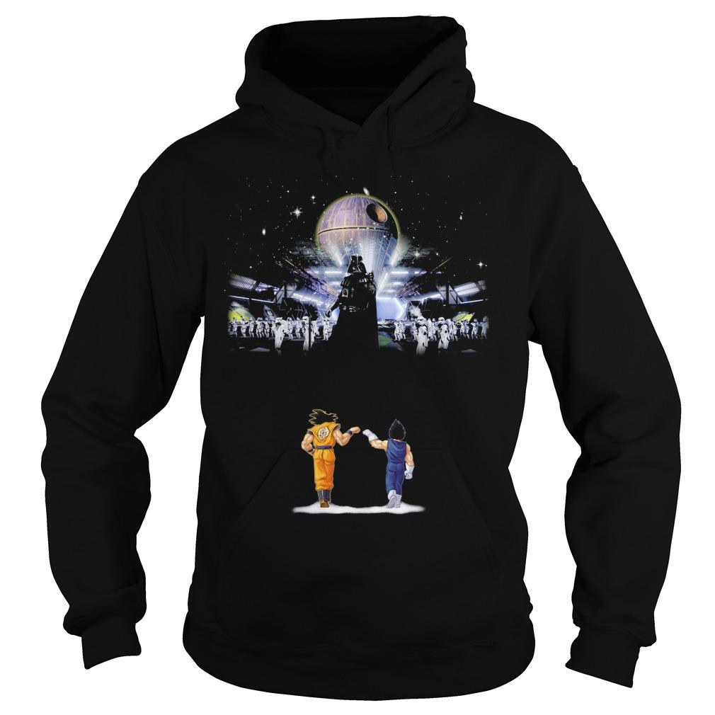 Songoku And Vegeta Vs Star Wars Darth Vader Hoodie