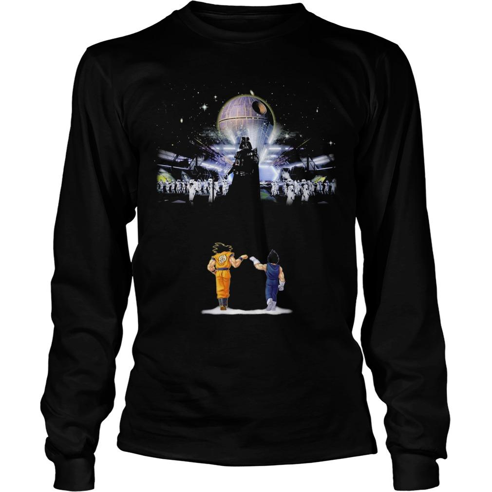 Songoku And Vegeta Vs Star Wars Darth Vader Longsleeve