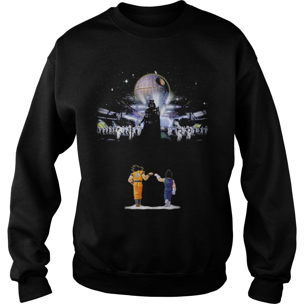 Songoku And Vegeta Vs Star Wars Darth Vader Sweater