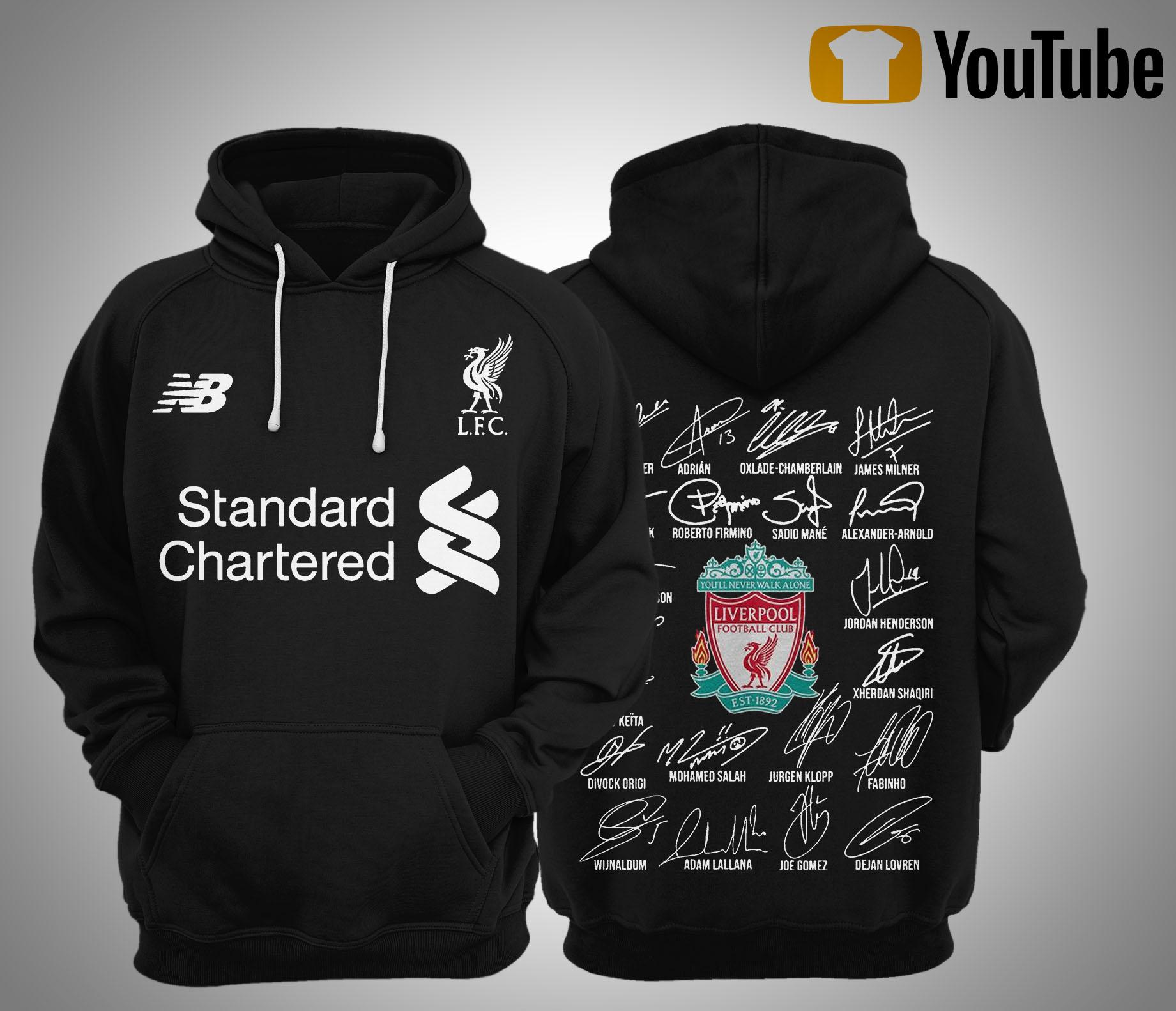 Standard Chartered Liverpool Fc Signatures Hoodie