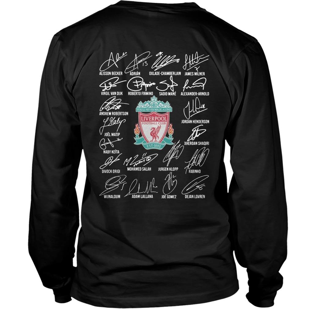Standard Chartered Liverpool Fc Signatures Longsleeve