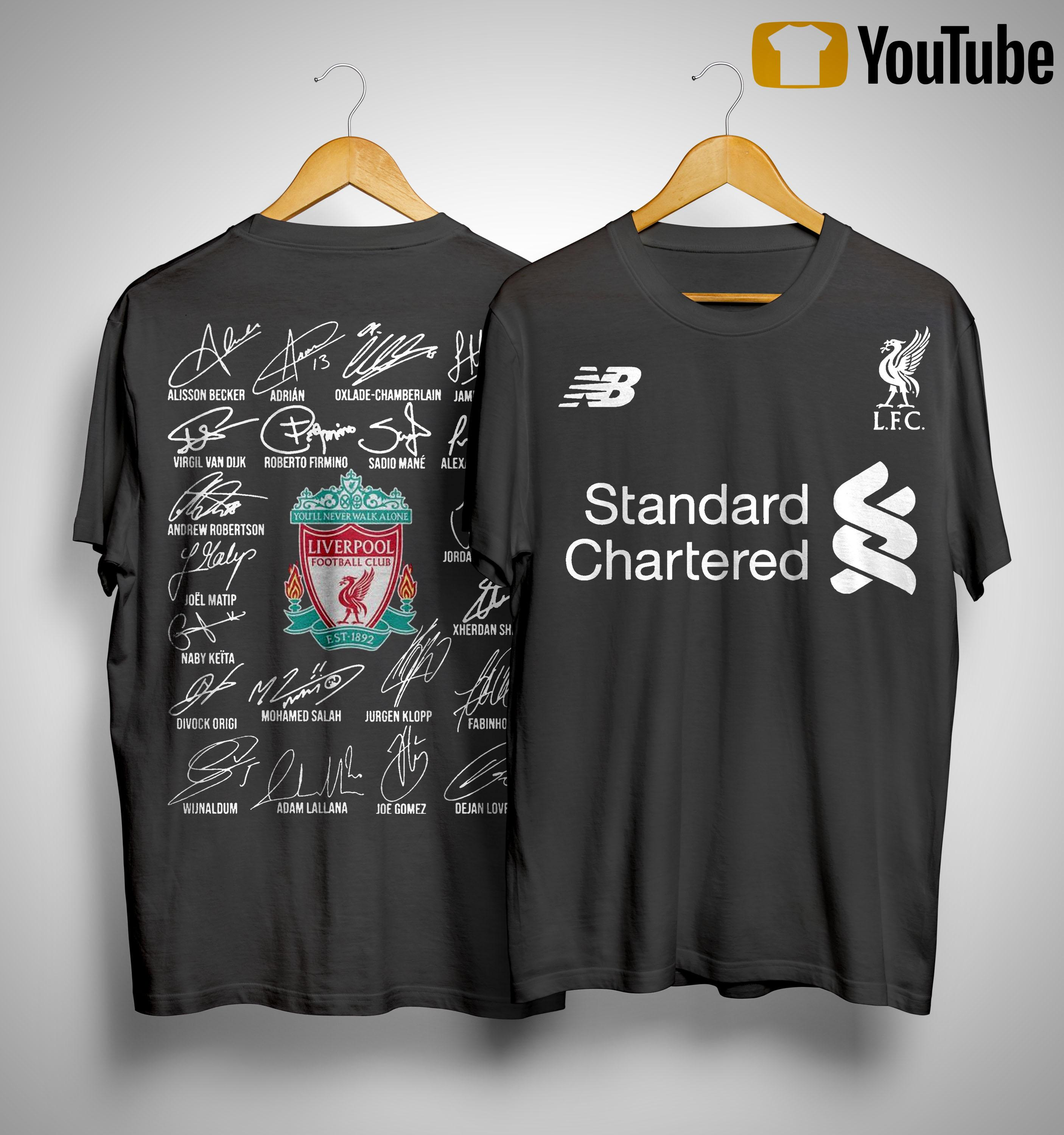 Standard Chartered Liverpool Fc Signatures Shirt