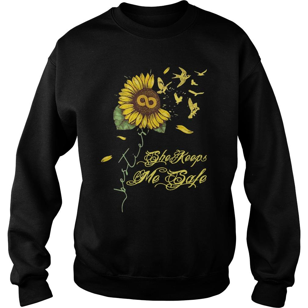 Sunflower She Keeps Me Safe Sweater