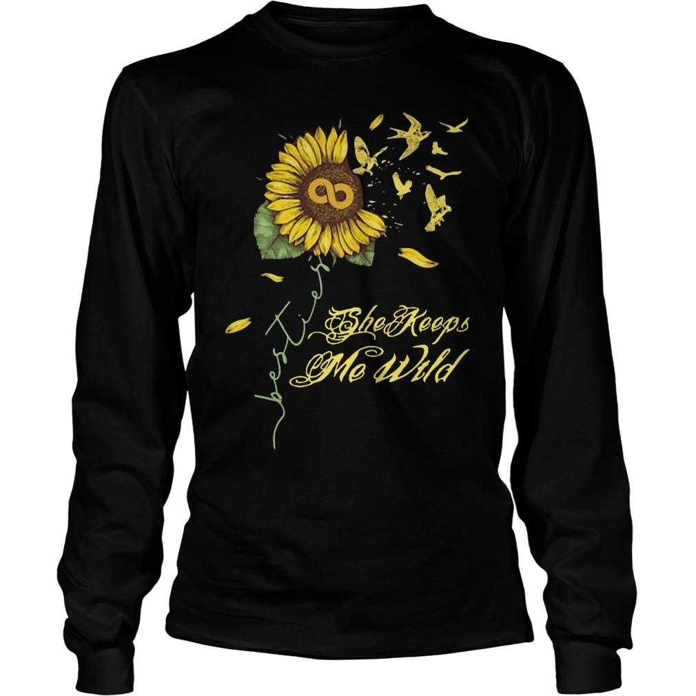 Sunflower She Keeps Me Wild Longsleeve