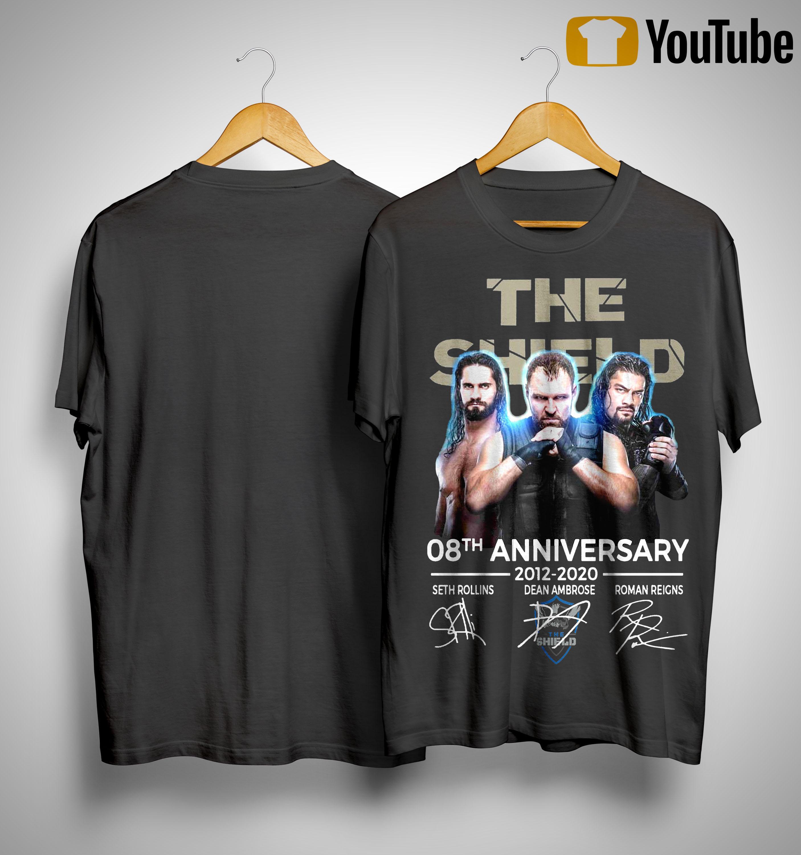 The Shield 08th Anniversary 2012 2020 Signatures Shirt