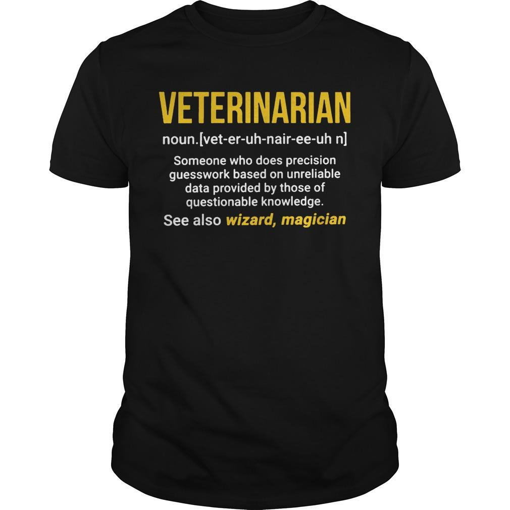 Veterinarian See Also Wizzard Magician Shirt