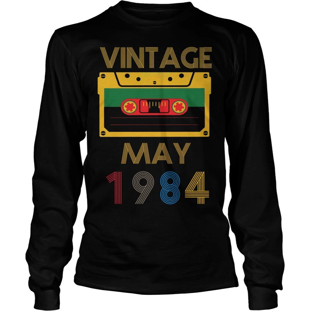 Video Tape Vintage May 1984 Longsleeve