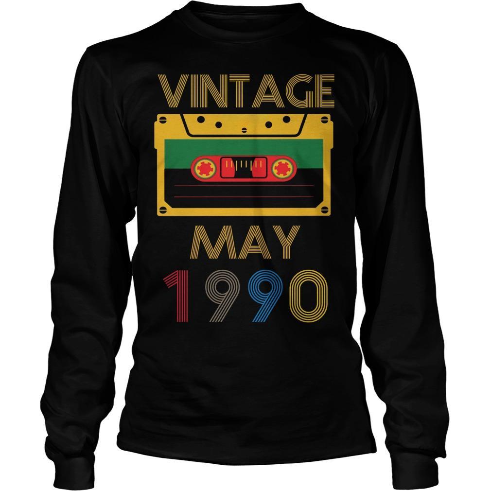 Video Tape Vintage May 1990 Longsleeve