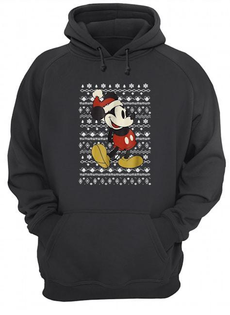 Vintage Christmas Mickey Mouse Hoodie