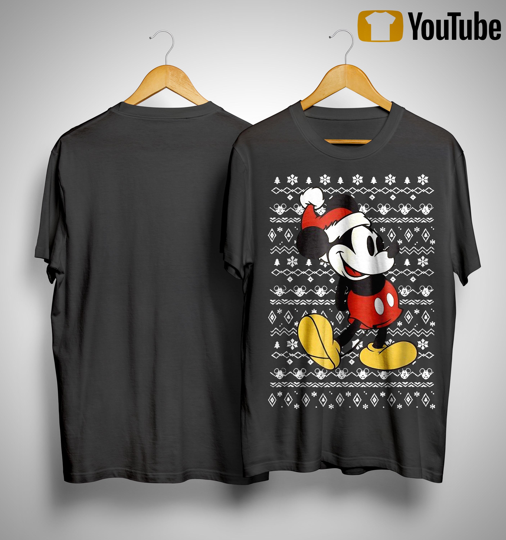 Vintage Christmas Mickey Mouse Shirt