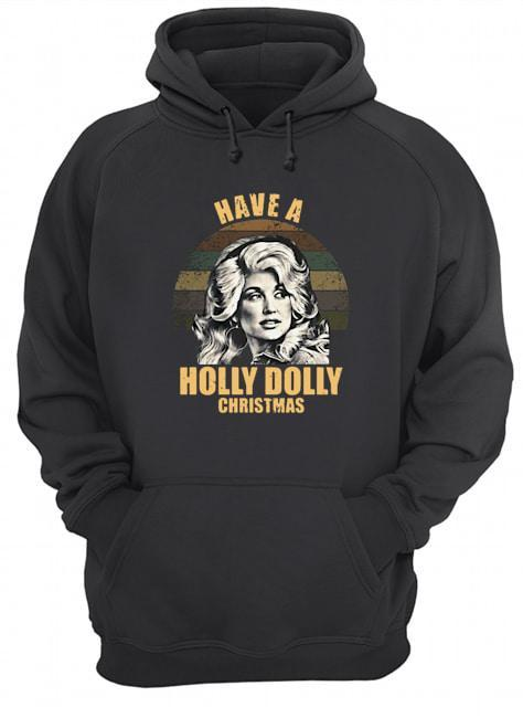 Vintage Have A Holly Dolly Christmas Hoodie