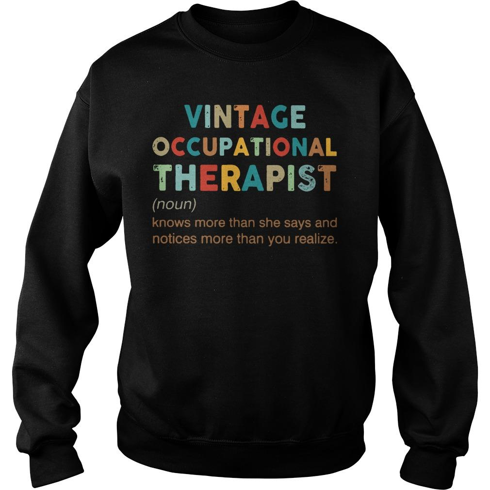 Vintage Occupational Therapist Knows More Than She Says And Notices Sweater