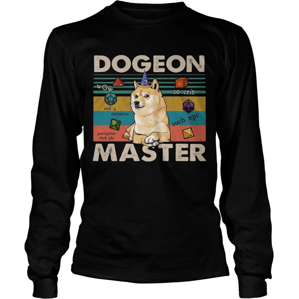 Vintage Shiba Dogeon Master Longsleeve