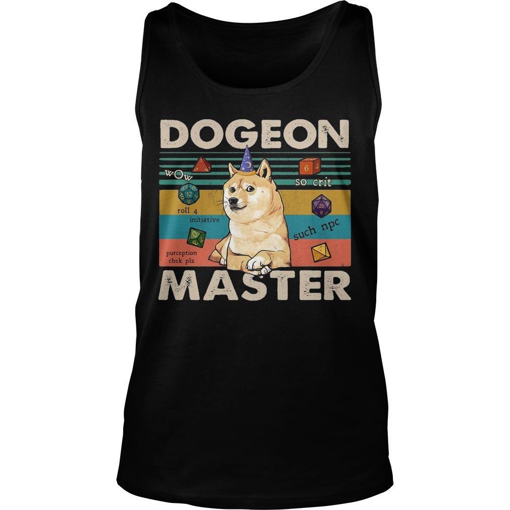 Vintage Shiba Dogeon Master Tank Top