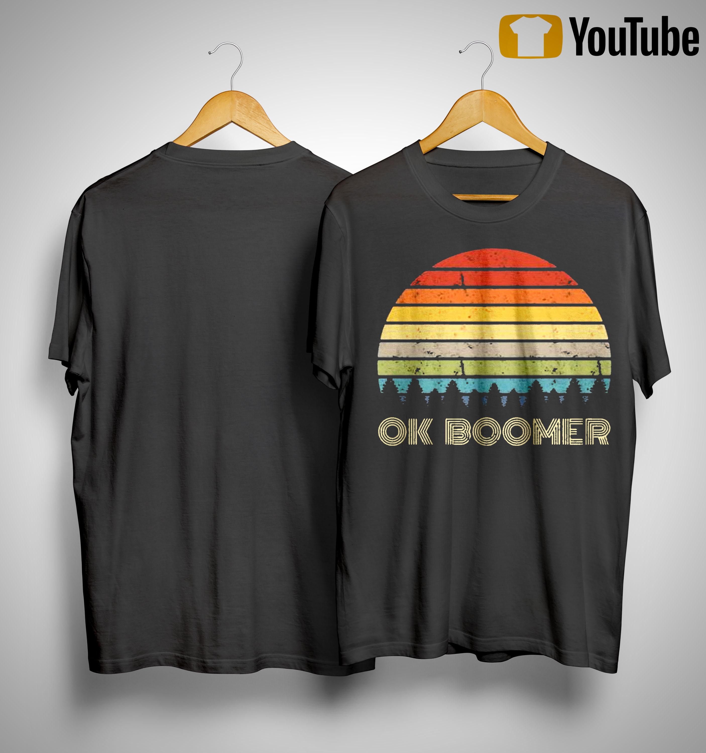 Vintage Sunset Ok Boomer Shirt