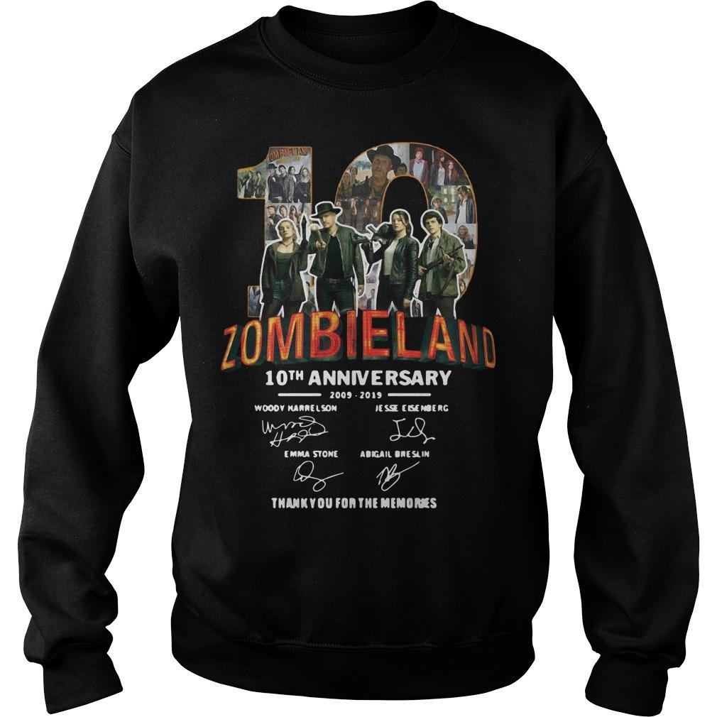 Zombieland 10th Anniversary 2009 2019 Signatures Sweater