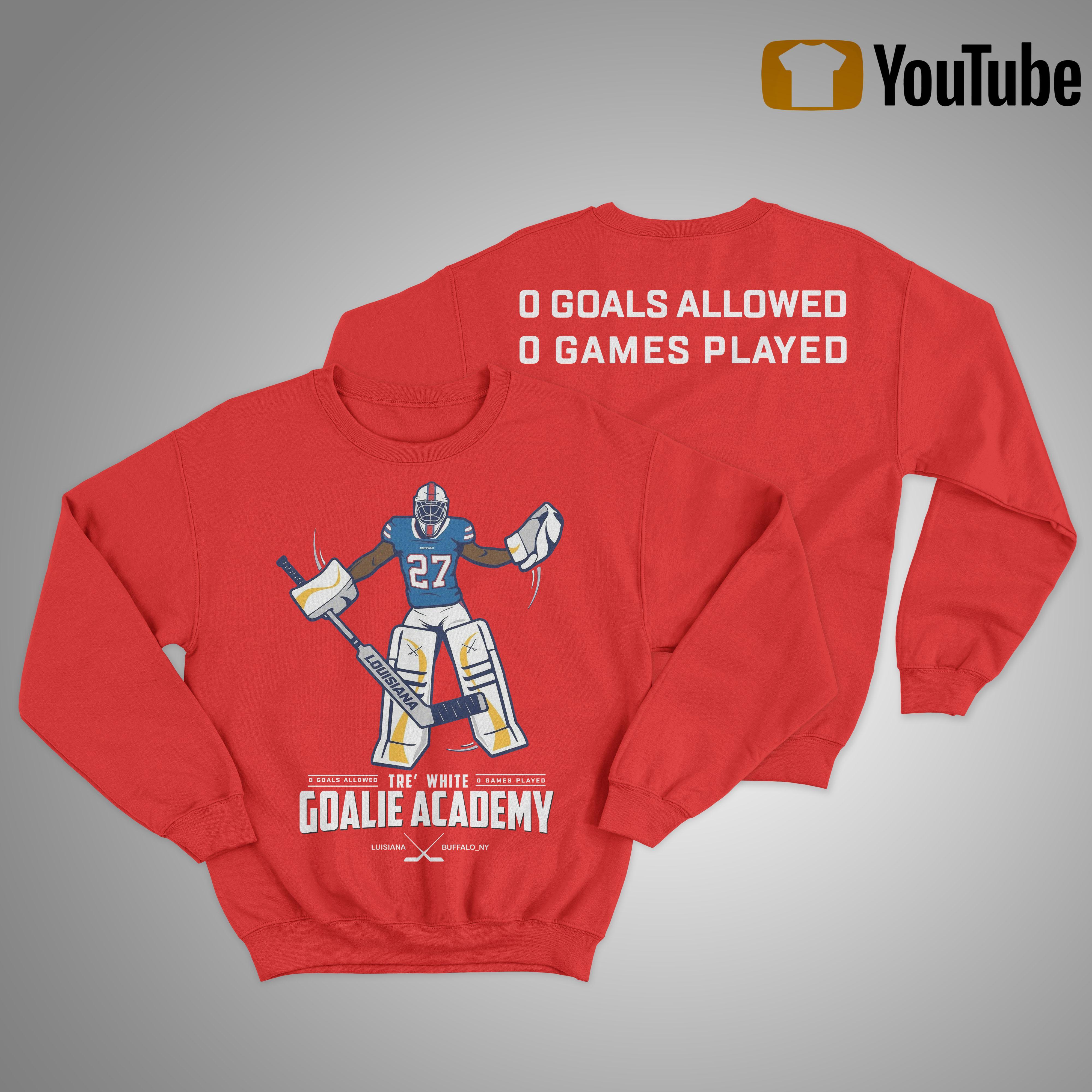 tre white goalie academy shirt Sweater