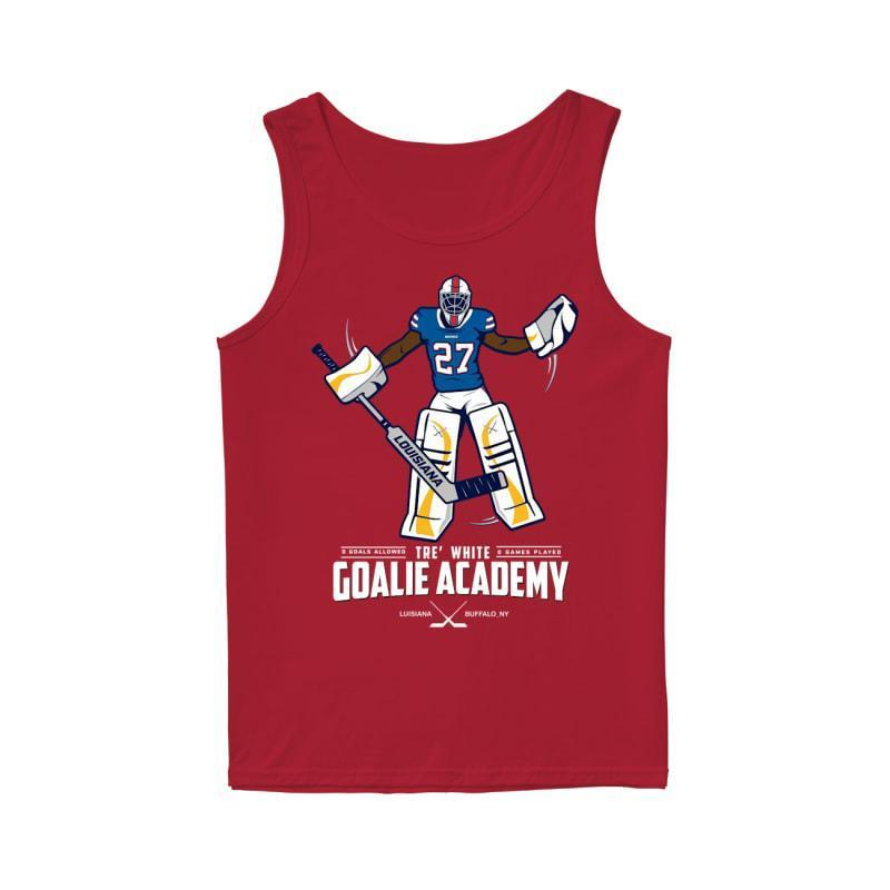 tre white goalie academy shirt Tank Top