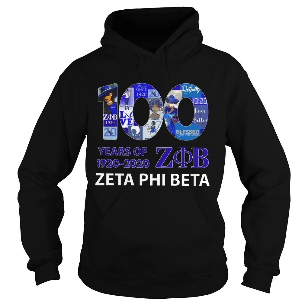 100 Years Of 1920 2020 Zob Zeta Phi Beta Hoodie
