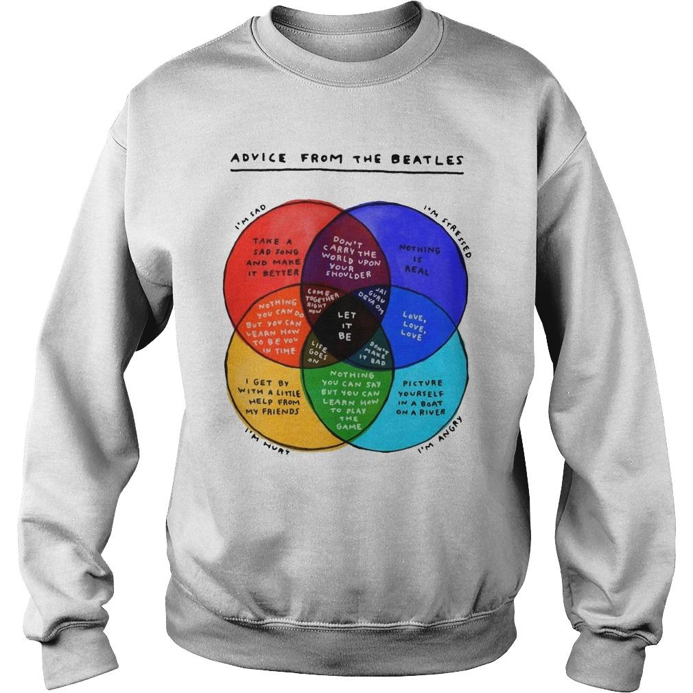 Advice From The Beatles I'm Stressed I'm Angry I'm Hurt Sweater