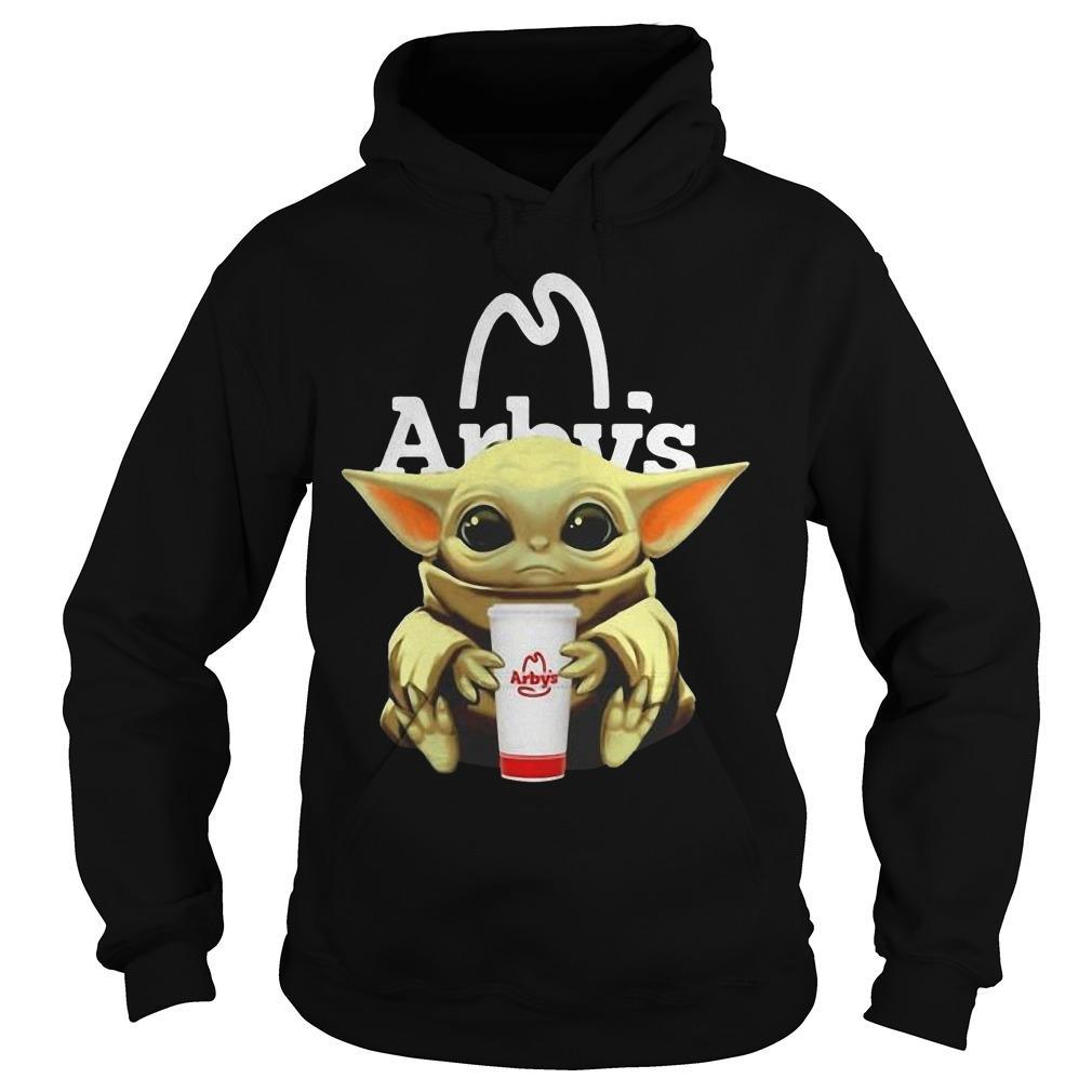Baby Yoda Hugging Arby Hoodie